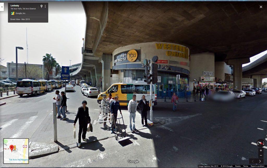 К автовокзалу с улицы Levinsky повернуть налево