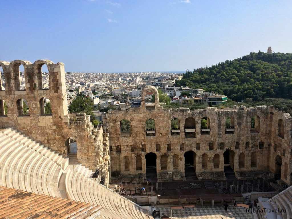 Одеон Герода Аттика на афинском Акрополе
