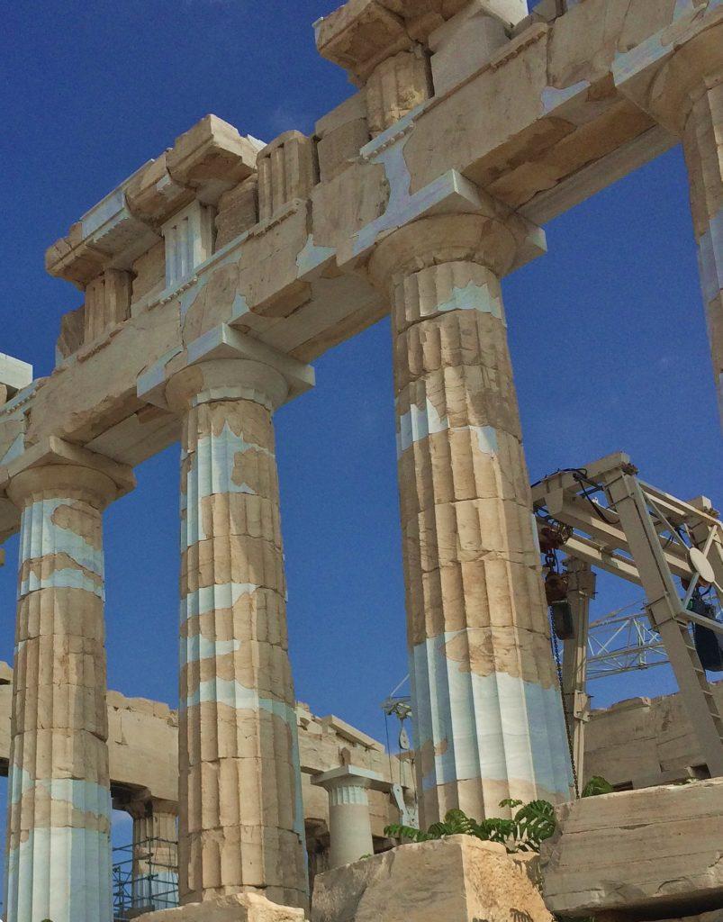 Колонны Парфенона в Афинах