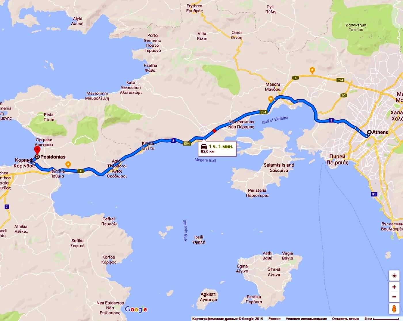 Дорога до Коринфского канала