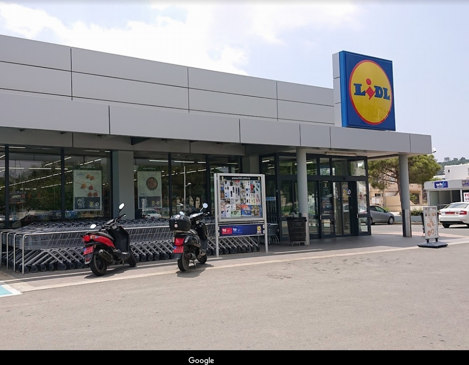 Cyprus. Supermarket Lidl in Protaras center.