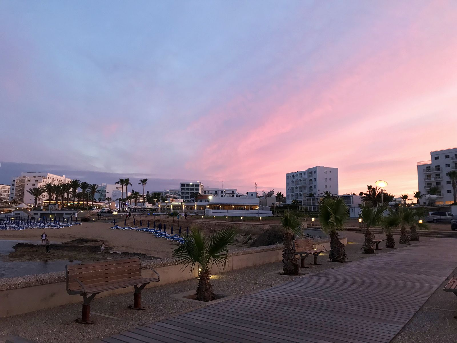 Cyprus. Protaras beach walking path.