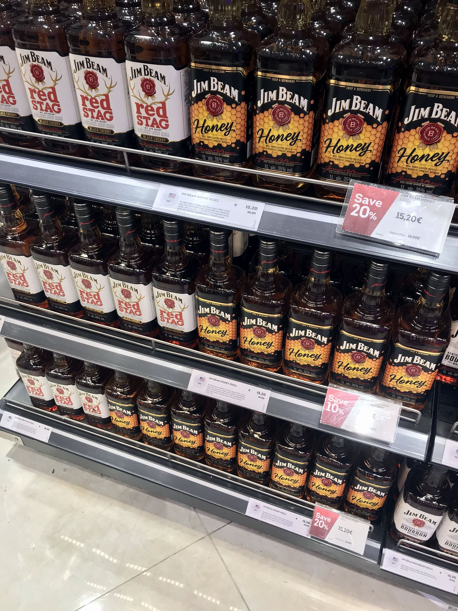 Duty free Antalya, august 2019, bourbon Jim Beam
