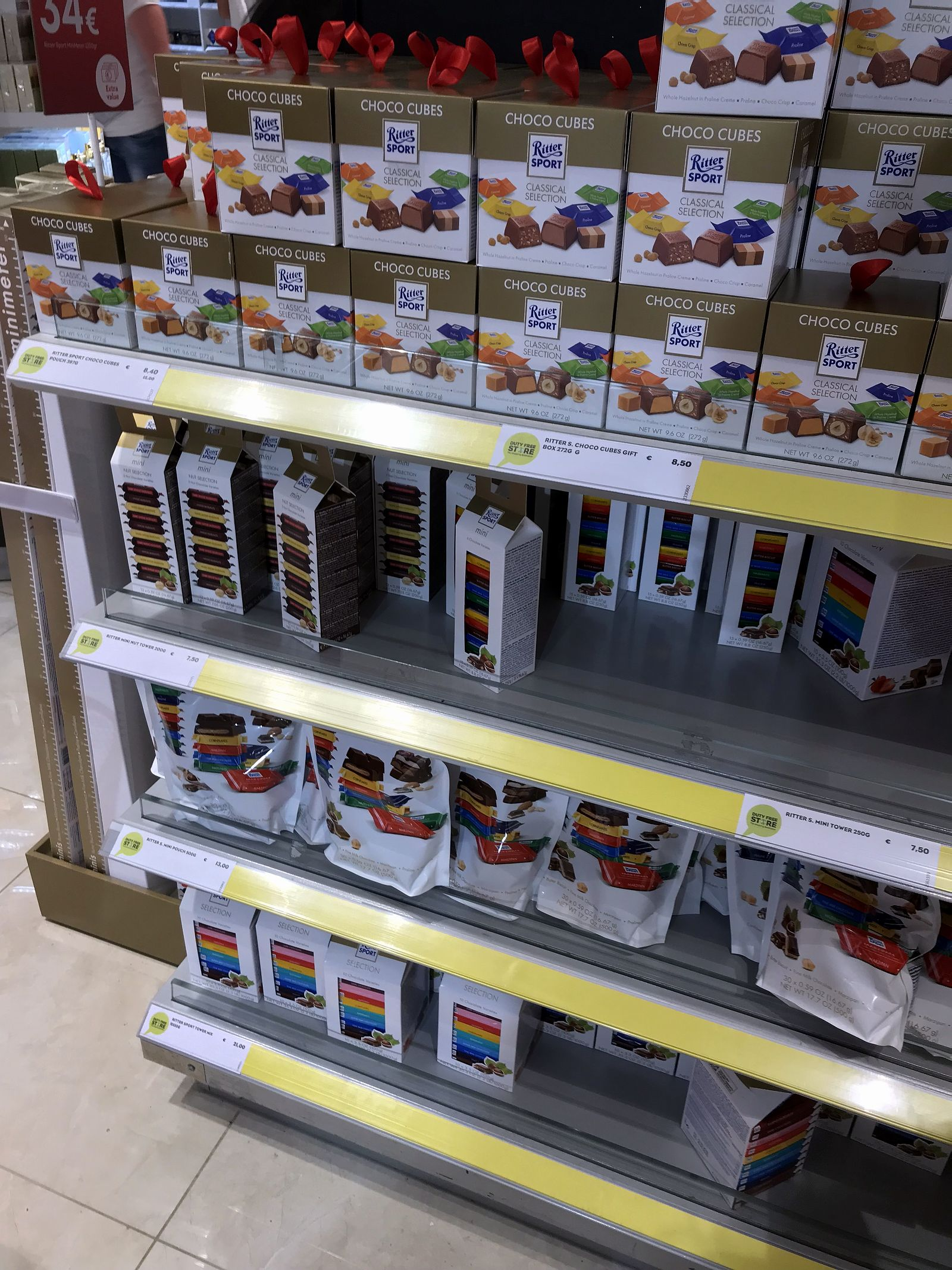 Duty free Antalya, august 2019, Ritter sport