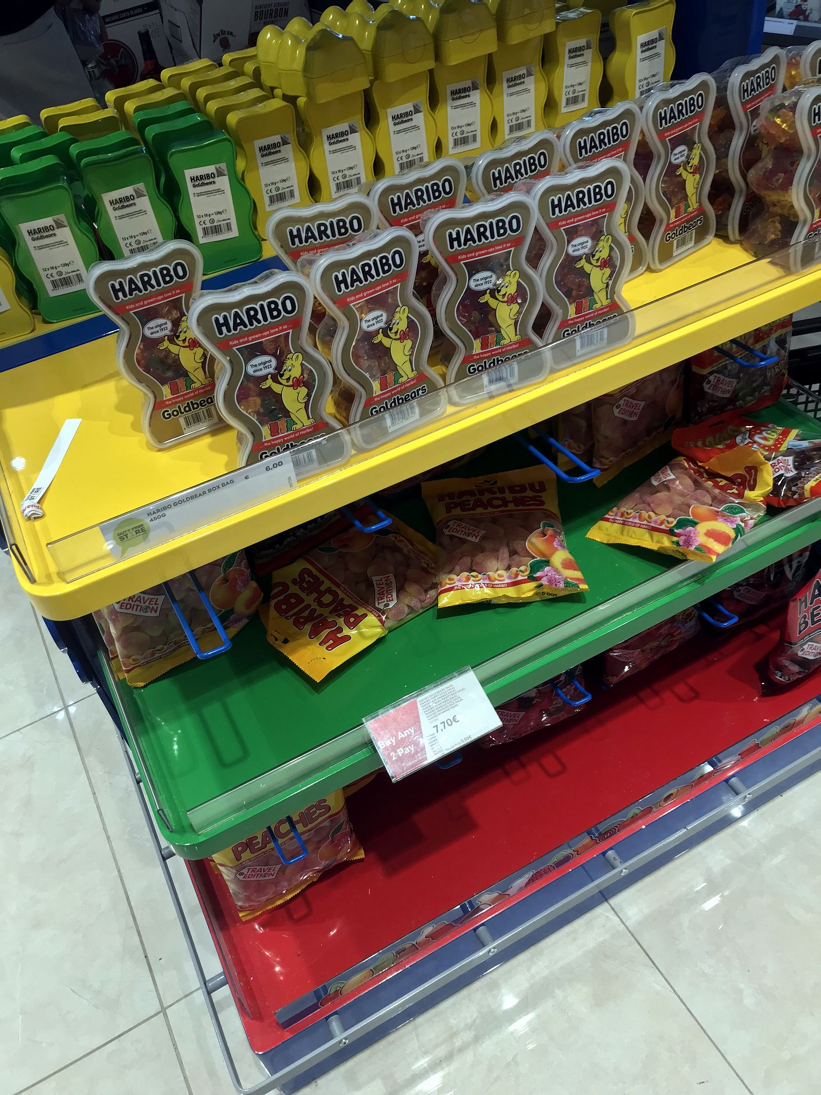 Duty free Antalya, august 2019, Haribo