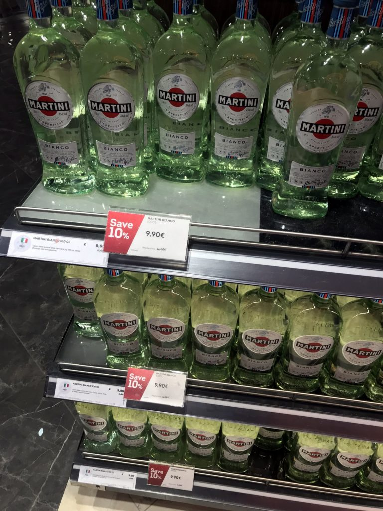 Duty free Antalya, august 2019, martini