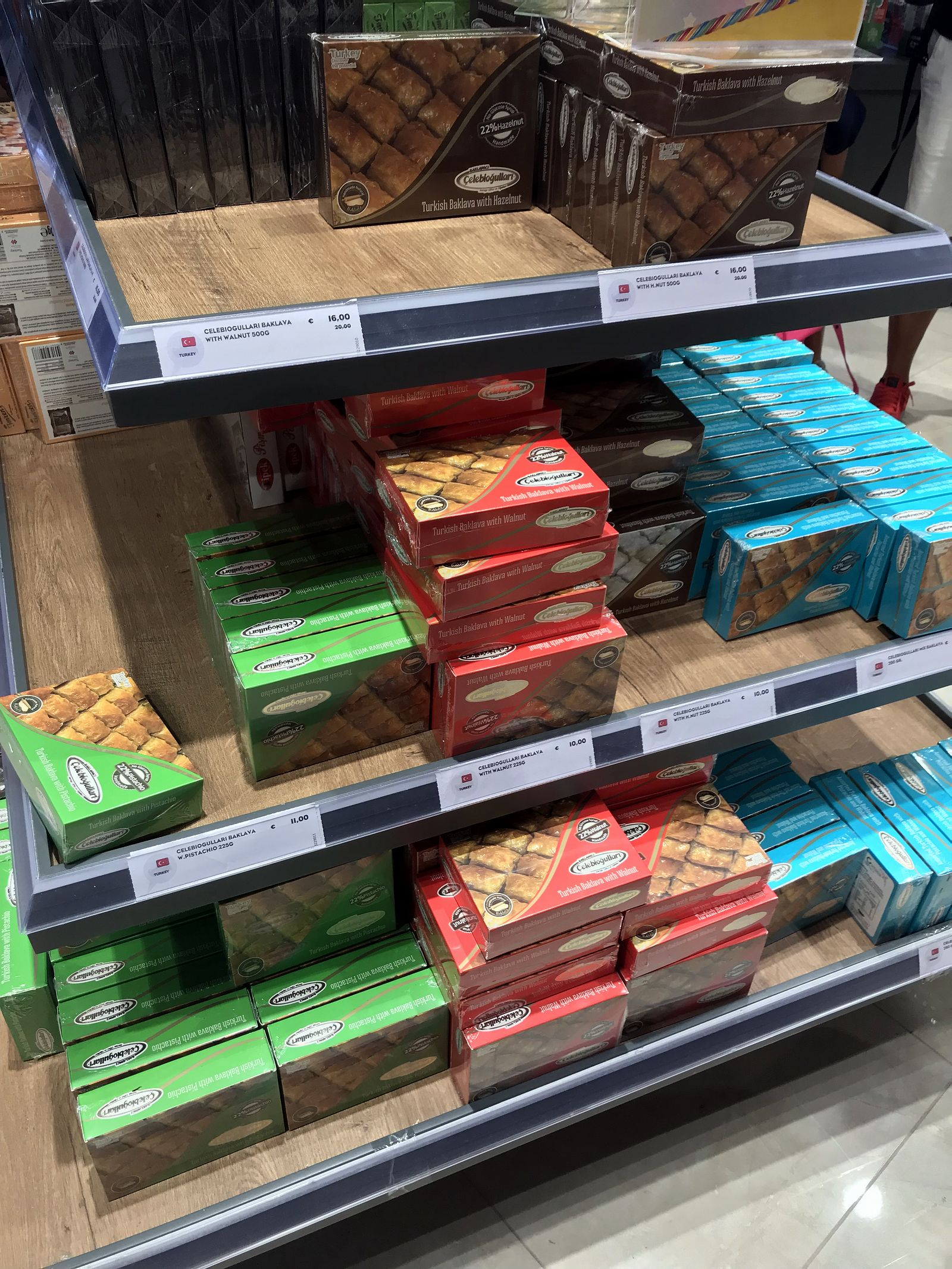 Duty free Antalya, august 2019, turkish baklava