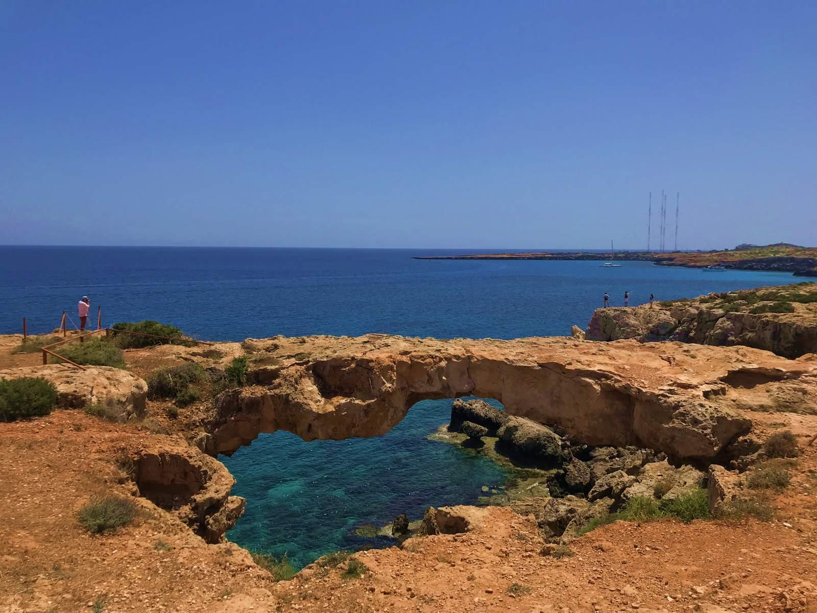 Cyprus. Kamara Tou Koraka stone arch.